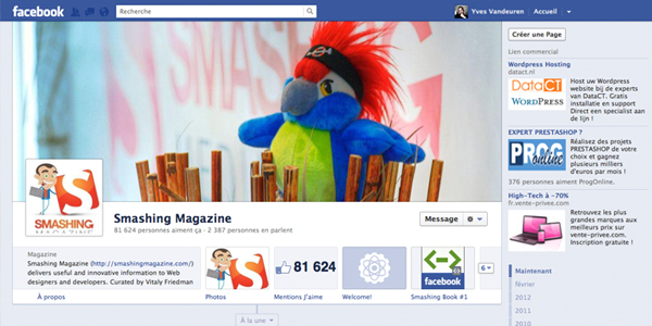 7 nouveautés sur les Fan pages Facebook